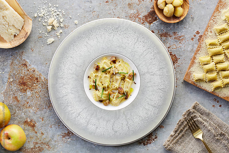 Agnolotti Pasta Dish by Trinette Reed for Stocksy United