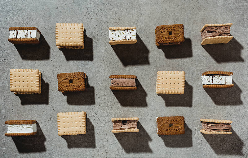 Ice cream sandwiches by Tatjana Ristanic for Stocksy United