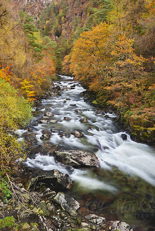 Pass of Aberglaslyn in Autumn. Nanmor Valley, Wales, UK. by Liam Grant for Stocksy United