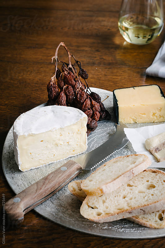 cheese platter by Gillian Vann for Stocksy United