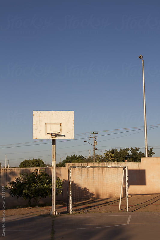 Basketball Hoop and Soccer Goal by Carey Haider for Stocksy United