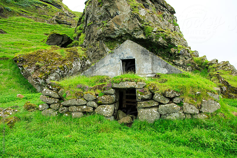 Stone shelter. Iceland by John White for Stocksy United