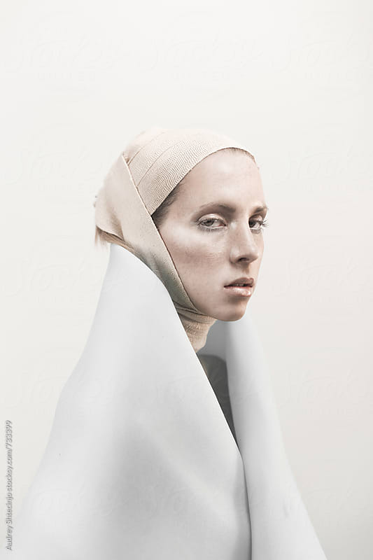 Conceptual fashion portrait of model. by Marko Milanovic for Stocksy United