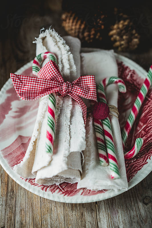 Christmas place setting by Tatjana Ristanic for Stocksy United