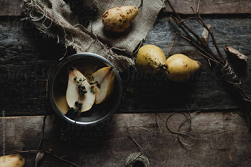 Yellow pears still life by Natasa Kukic for Stocksy United