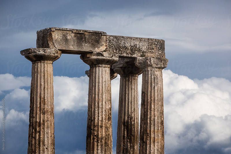 Ancient Doric Columns by Helen Sotiriadis for Stocksy United