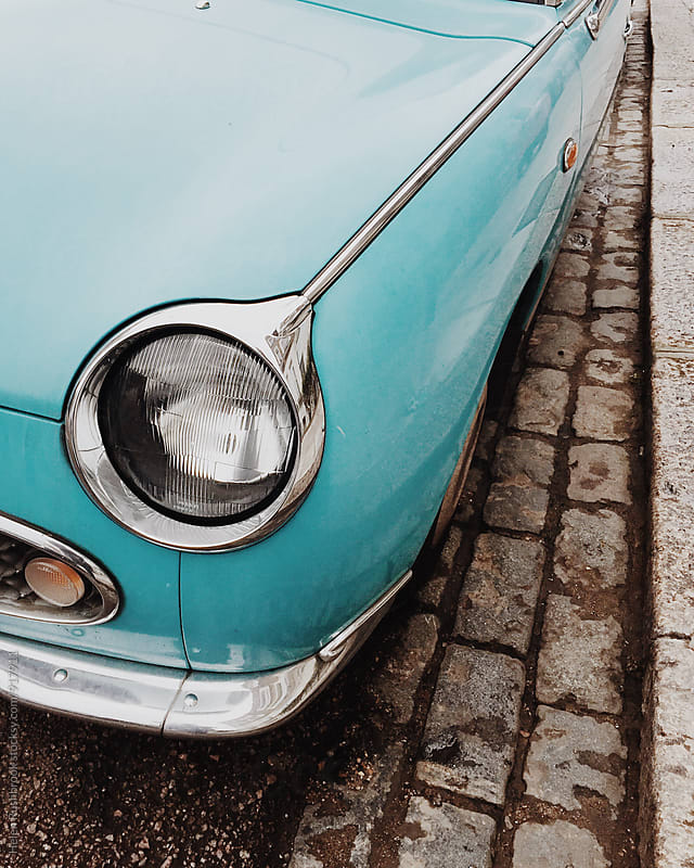 Classic sports car detail by Helen Rushbrook for Stocksy United