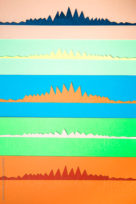 Colorful graphs on different backgrounds by Beatrix Boros for Stocksy United