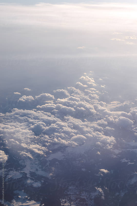 Aerial view of the clouds in the sky by Aleksandra Jankovic for Stocksy United