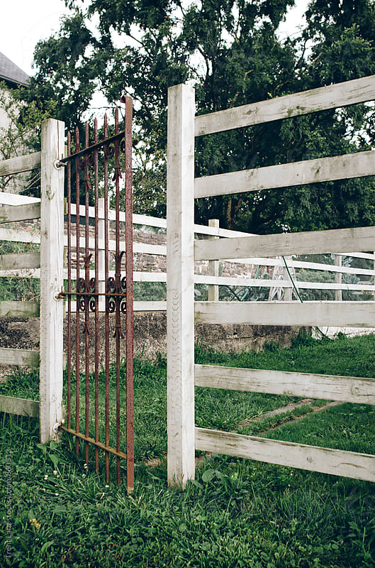 Rustic gate at old farm in the country by Trent Lanz for Stocksy United