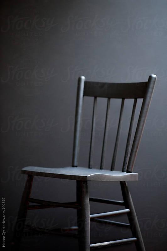 Black chair by Helene Cyr for Stocksy United
