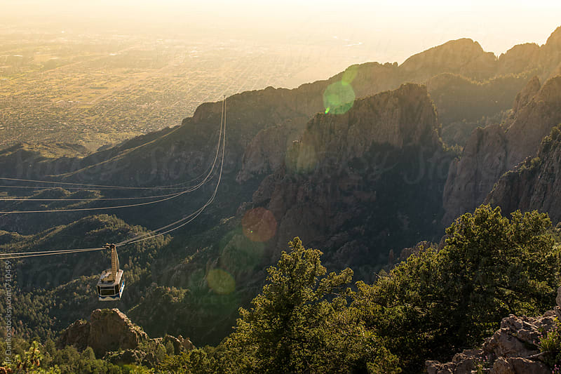 Sandia Peak Tram Albuquerque New Mexico Mountains at Sunset by JP Danko for Stocksy United