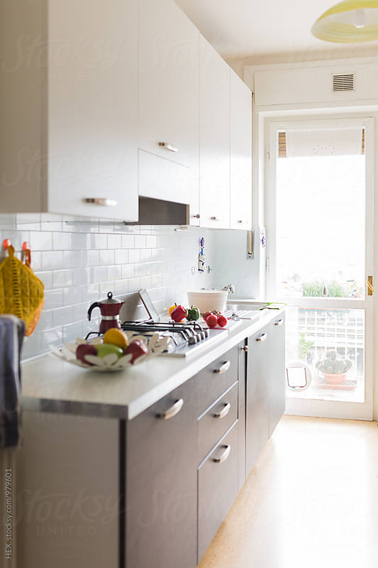Cozy Bright Empty Clean Kitchen by HEX. for Stocksy United