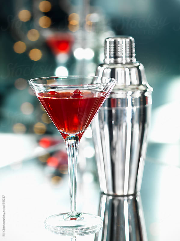 Festive Red Martini by Jill Chen for Stocksy United