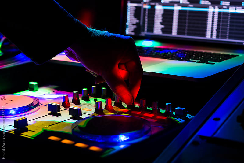 Digital DJ at work by Harald Walker for Stocksy United