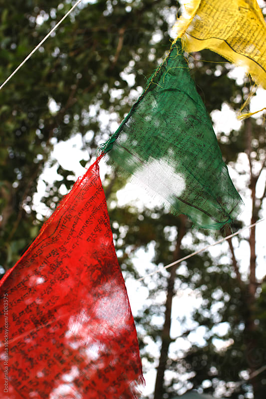 Buddhist Prayer Flags by Dobránska Renáta for Stocksy United