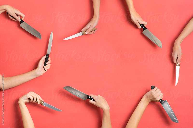 Composition with knifes and hands by Carles Rodrigo Monzo for Stocksy United