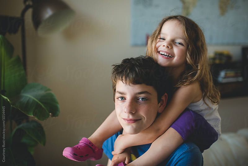 Brotherly sisterly love by Courtney Rust for Stocksy United