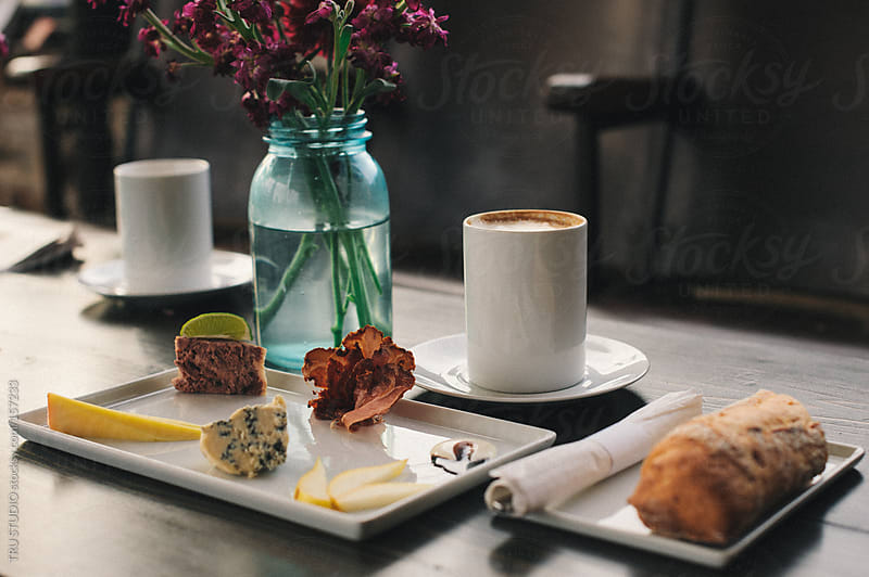 Charcuterie Platter and Coffee by TRU STUDIO for Stocksy United