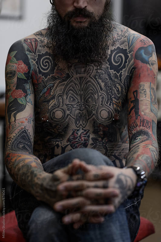 At tattoo salon by Milles Studio for Stocksy United