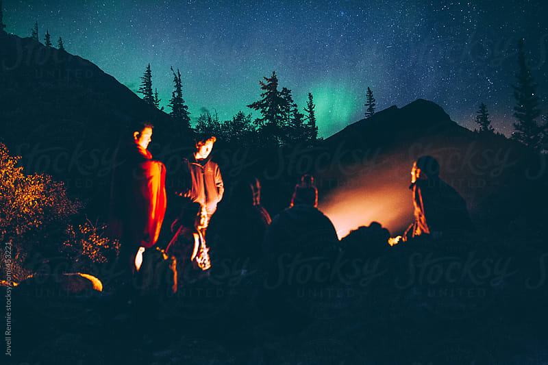 Bonfires Under The Stars by Jovell Rennie for Stocksy United