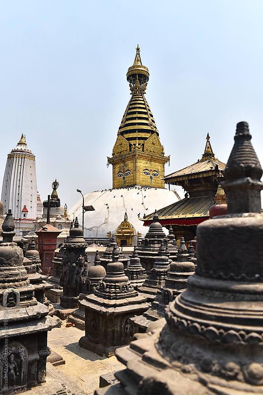 Swayambhunath stupa in Kathmandu by Bisual Studio for Stocksy United