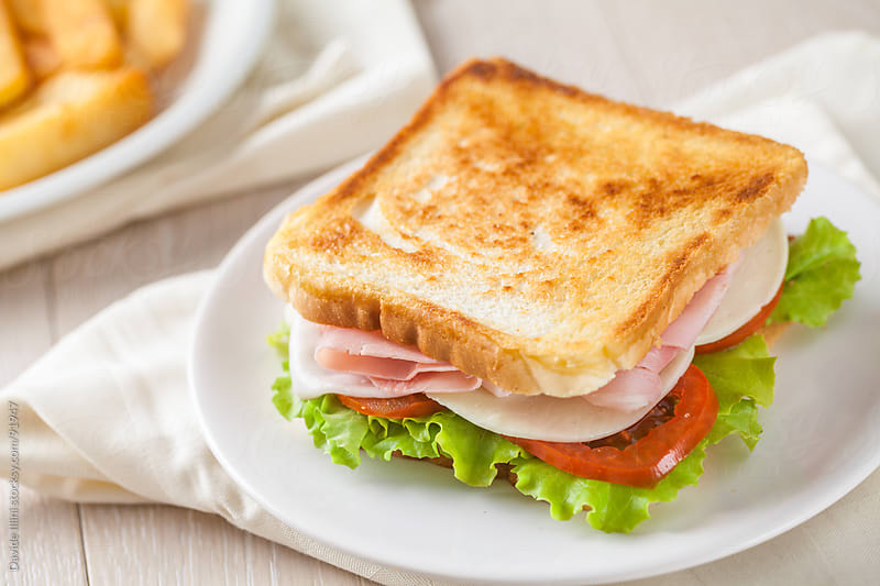 Toasted Club Sandwich by Davide Illini for Stocksy United