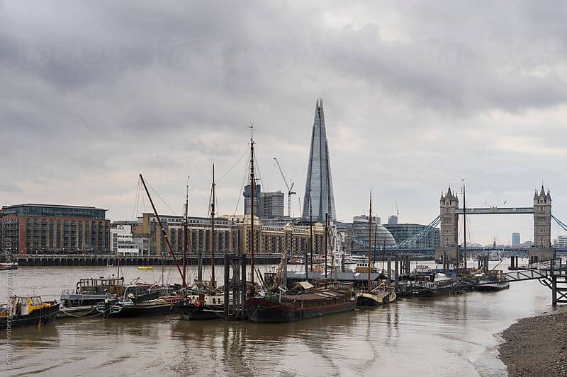 London Skyline with the River Thames and Tower Bridge, England, United Kingdom by Tom Uhlenberg for Stocksy United