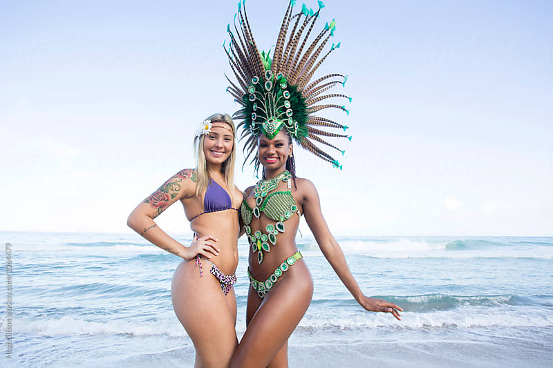 Samba Dancers. Ipanema Beach. Rio de Janeiro. Brazil. by Hugh Sitton for Stocksy United