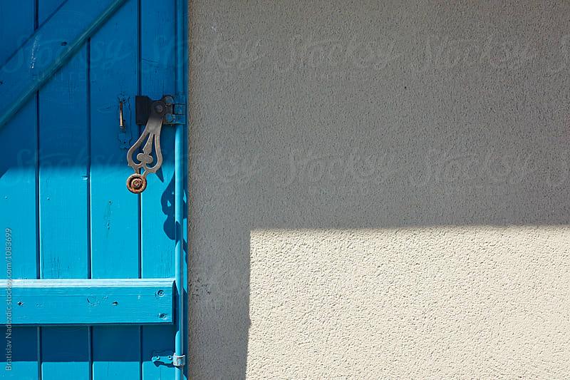 Blue wooden window by Bratislav Nadezdic for Stocksy United