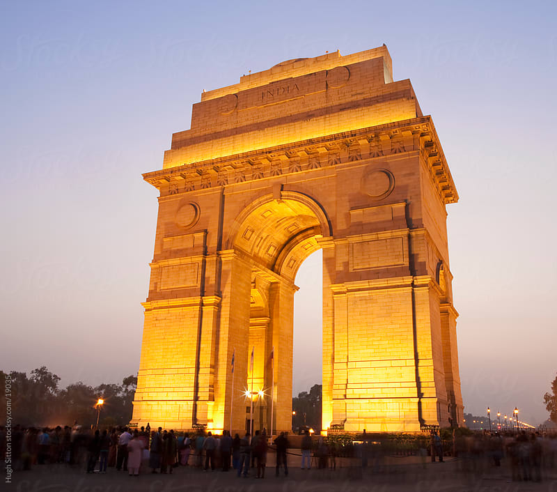 India Gate at dusk. Delhi. India by Hugh Sitton for Stocksy United