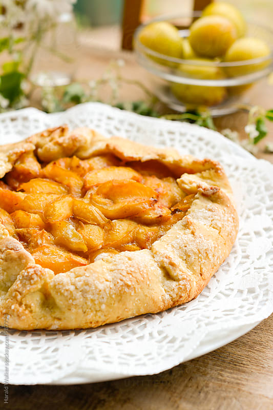 Yellow Plum Galette by Harald Walker for Stocksy United