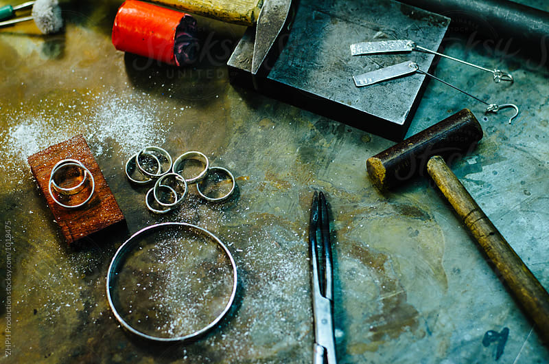 Making jewelry by hands by Artem Zhushman for Stocksy United