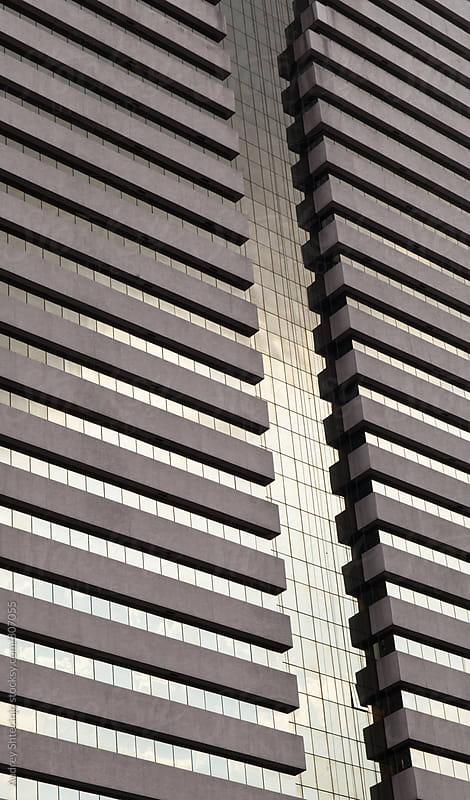 Modern office building /detail. by Audrey Shtecinjo for Stocksy United
