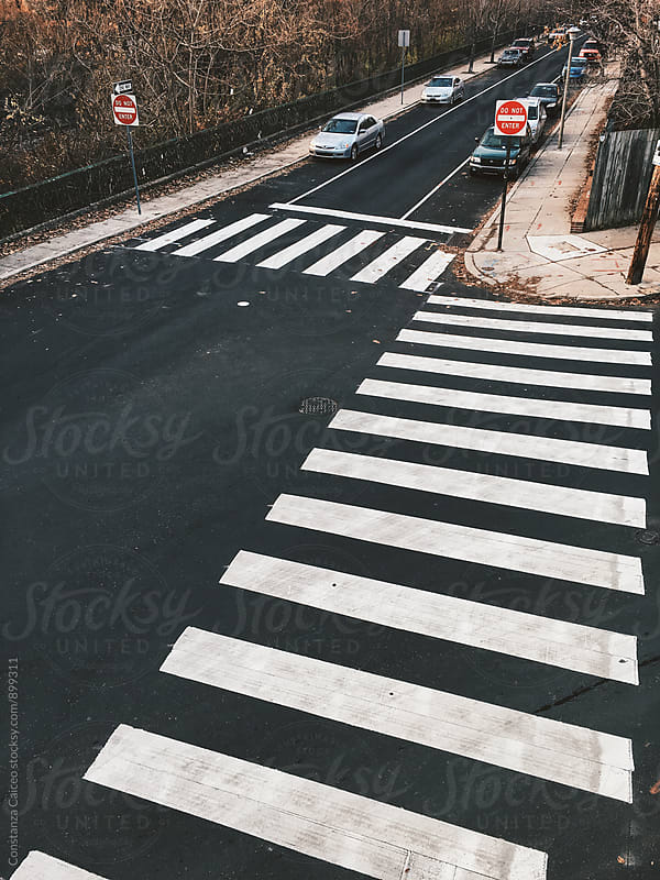 Pedestrian lane  by Constanza Caiceo for Stocksy United