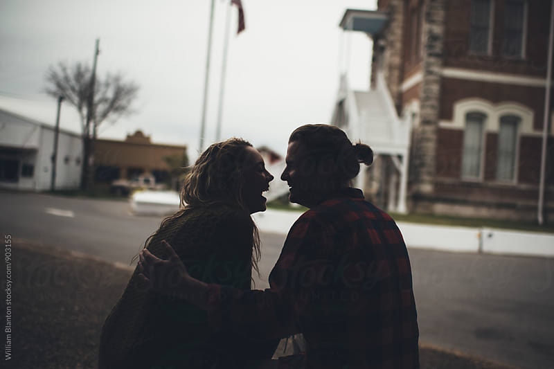 Texas Engagement Couple Portraits Winter by William Blanton for Stocksy United