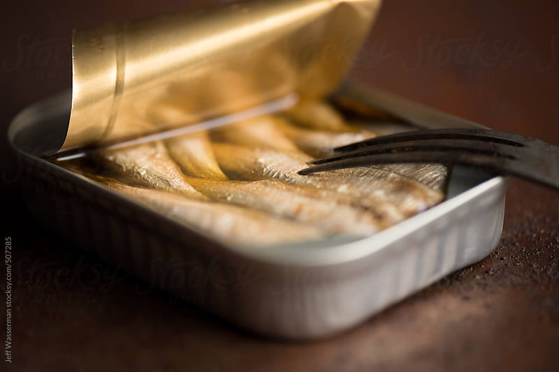 Tin of Sardines (Healthy Fat) by Jeff Wasserman for Stocksy United