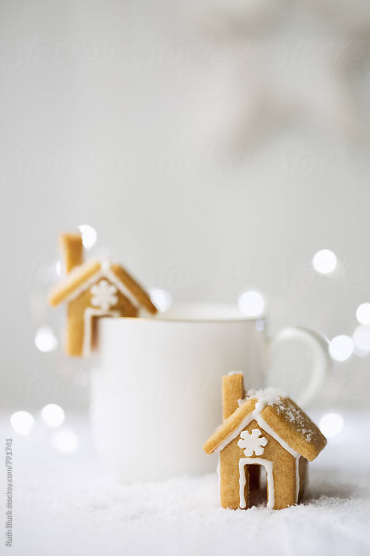 Mini gingerbread houses by Ruth Black for Stocksy United