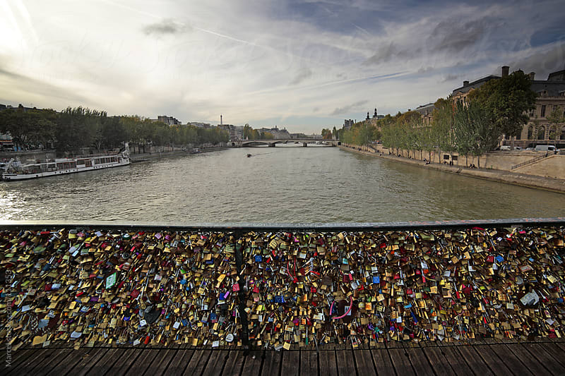 Lovelocks on a bridge in Paris by Marcel for Stocksy United