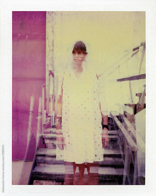 Polaroid photo of a woman by Aleksandra Kovac for Stocksy United