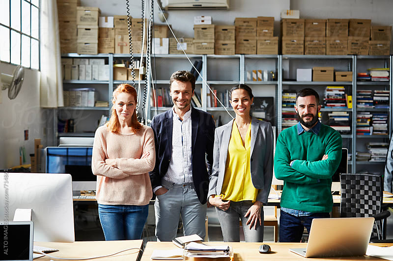 Team Of Confident Business People In Office by ALTO IMAGES for Stocksy United