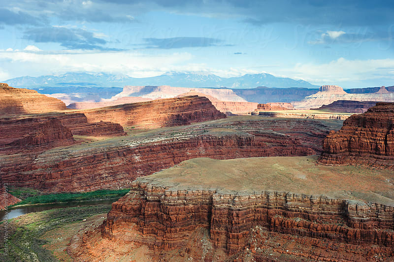 Canyons of colorado river in Canyonlands National Park by Peter Wey for Stocksy United