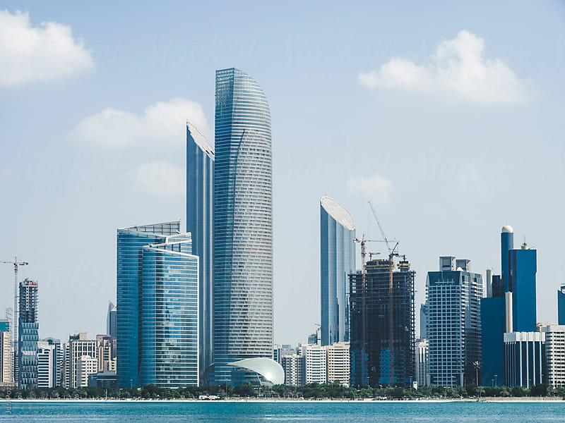 Abu Dhabi skyline by Juri Pozzi for Stocksy United
