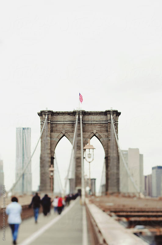 The Brooklyn Bridge and View of Manhattan by Chelsea Victoria for Stocksy United