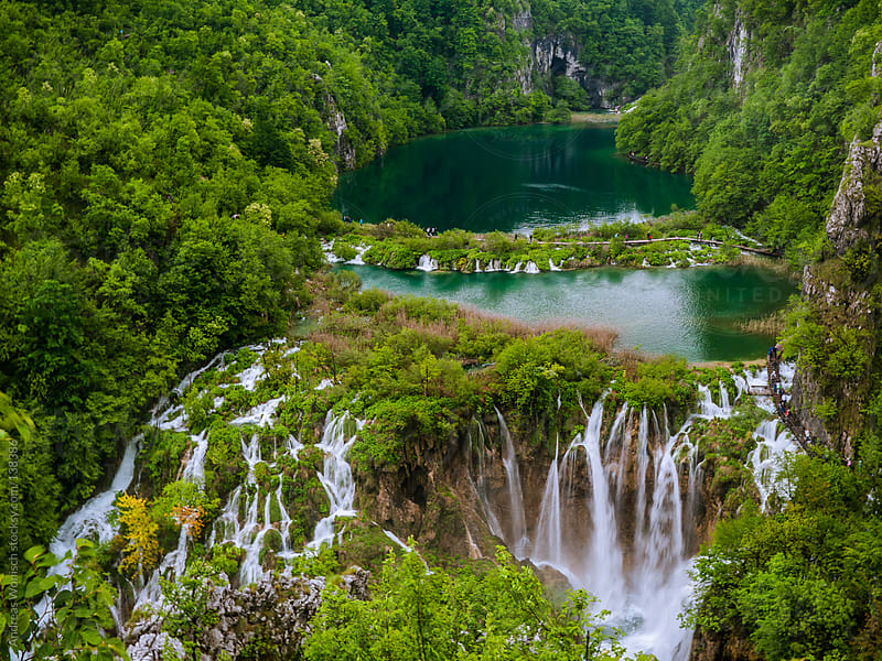 Plitvice panorama by Andreas Wonisch for Stocksy United
