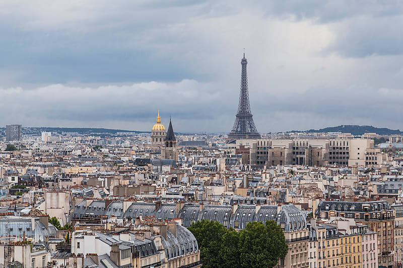 Paris, France - Panorama of the City with the Eiffel Tower by Tom Uhlenberg for Stocksy United