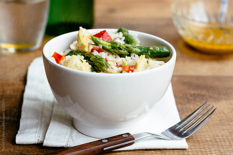 Asparagus, Artichoke and Rice Salad by Harald Walker for Stocksy United