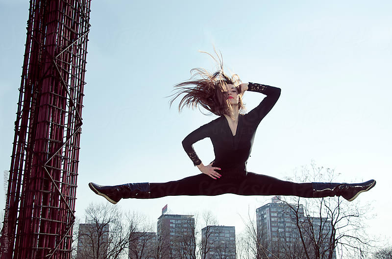 Dance jumps by Marija Anicic for Stocksy United
