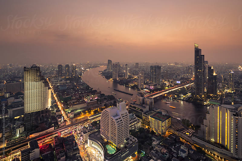 Bangkok at Night, Thailand by Tom Uhlenberg for Stocksy United