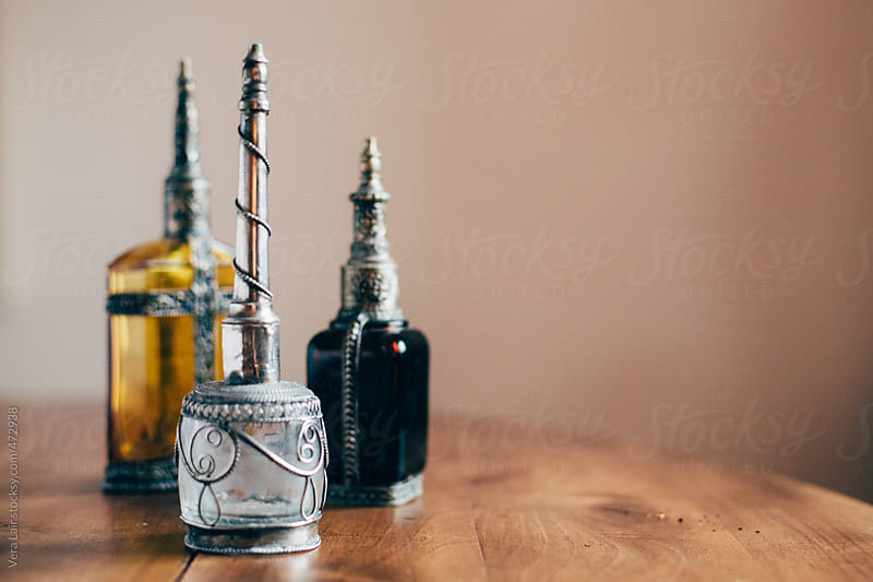 Three small antic flask by Vera Lair for Stocksy United